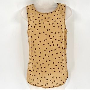 DIALOGUE Sheer Polka Dot Tank Top D01